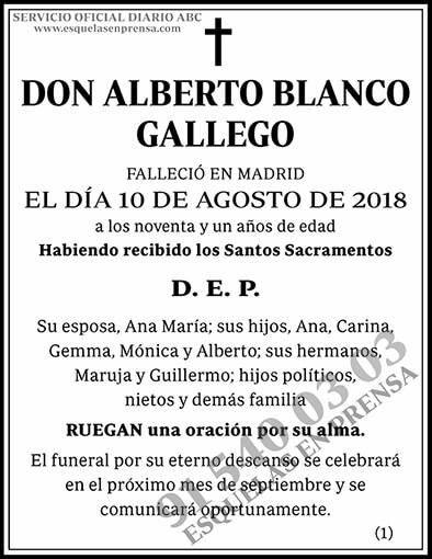 Alberto Blanco Gallego